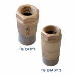 334 Series Single Poppet Foot Valve & 335A Double Poppet Foot Valve